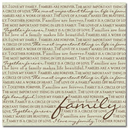Masterpiece Studios - Stemma - 12x12 Paper - Families Are Forever