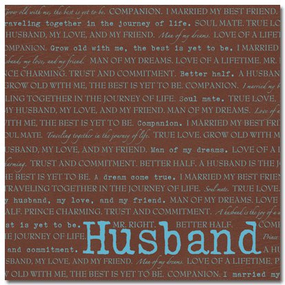 Masterpiece Studios - Stemma - 12x12 Paper - Husband, CLEARANCE