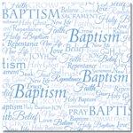 Masterpiece Studios - Stemma - 12x12 Paper - Word Baptism, CLEARANCE