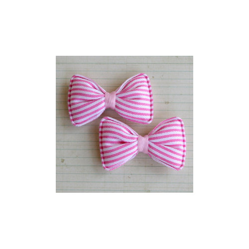 Maya Road - Candy Stripe Bows - Bubble Gum