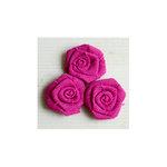 Maya Road - Vintage Burlap Roses - Fuchsia