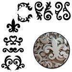 Maya Road - Chipboard Collection - Chipboard Set - Decorative Scrolls