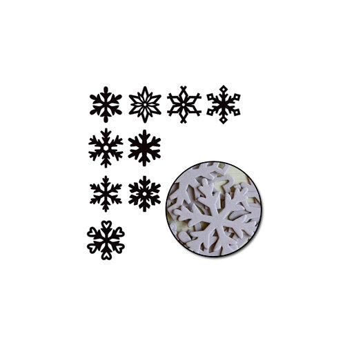 Maya Road - Chipboard Set - Large Snowflakes