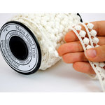 Maya Road - Trim Collection - Vintage Crochet Trim - Bubble Dots - White - 25 Yards