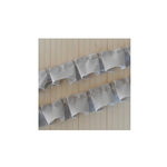 Maya Road - Trim - Frayed Edge Pleated - Khaki - 24 Yards
