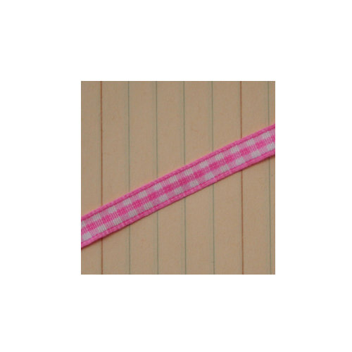 Maya Road - Trim - Mini Gingham - Pink Bubblegum - 25 Yards