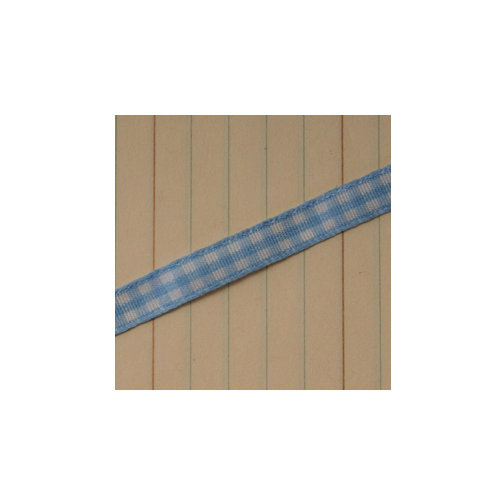 Maya Road - Trim - Mini Gingham - Candy Blue - 25 Yards