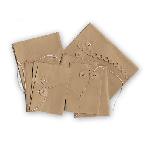 Maya Road - Kraft Collection - Envelopes - Wavy Scallop