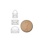 Maya Road - Kraft Note Envelopes - White Polka Dot
