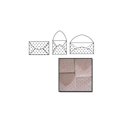 Maya Road - Kraft Note Envelopes - Slate Polka Dot