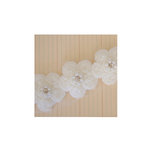 Maya Road - Trim - Antique Pearl Center Flower - 2 Yards