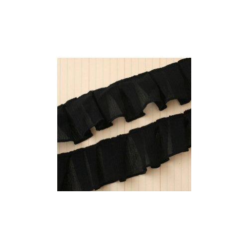 Maya Road - Trim - Pleated Gauze - Black - 25 Yards