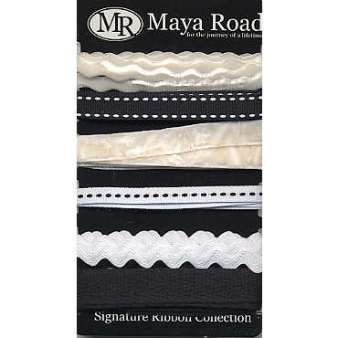 Maya Road - Signature Ribbon Pack - Black and White