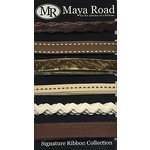 Maya Road - Signature Ribbon Pack - Brown and Cream