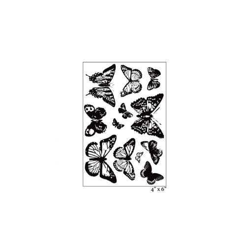 Maya Road - Clear Acrylic Stamps - Ornate Vintage Butterflies