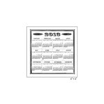 Maya Road - Clear Acrylic Stamps - Vintage 2013 Calendar