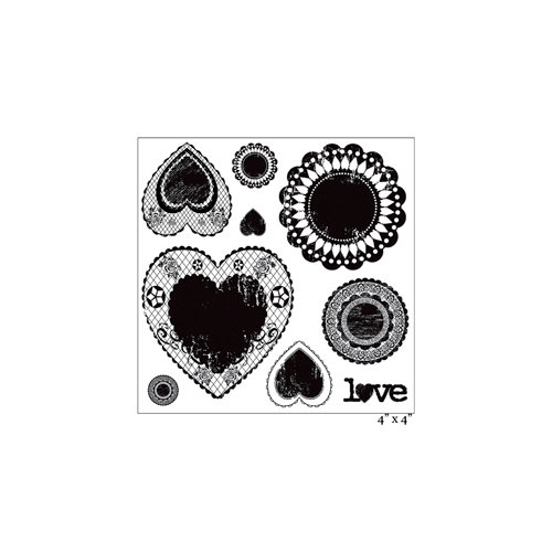 Maya Road - Clear Acrylic Stamps - Antique Love Doilies