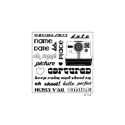 Maya Road - Clear Acrylic Stamps - Snapshot Words