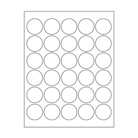 Maya Road - Kraft DIY Stickers - 1.5 Inch Circles