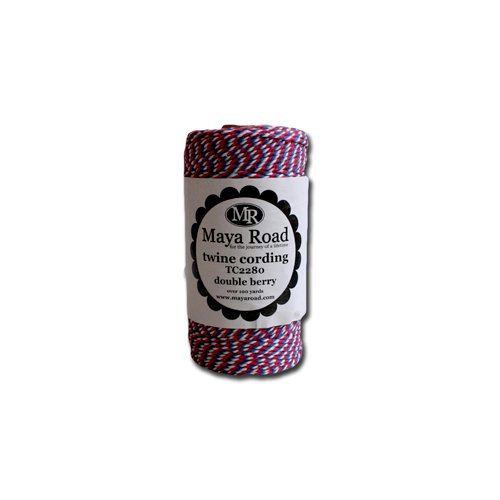 Maya Road - Twine Cording - Double Berry