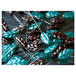 Maya Road - Trinket Pins Collection - Brown and Turquoise Leaf