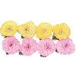 Maya Road - Trinket Blossoms Collection - Ruffle Flowers - Yellow and Pink, CLEARANCE