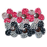 Maya Road - Trinket Blossoms Collection - Country Home Flowers - Red and Black, CLEARANCE