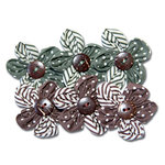 Maya Road - Trinket Blossoms Collection - Country Home Flowers - Green and Brown, CLEARANCE