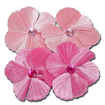 Maya Road - Trinket Blossoms Collection - Velvet Jewel Flower - Light Pink And Dark Pink, CLEARANCE