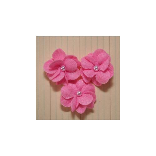 Maya Road - Felt Pearl Posies - Pink