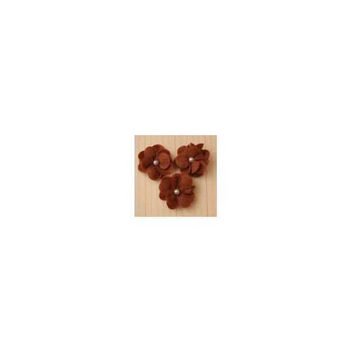 Maya Road - Felt Pearl Posies - Brown