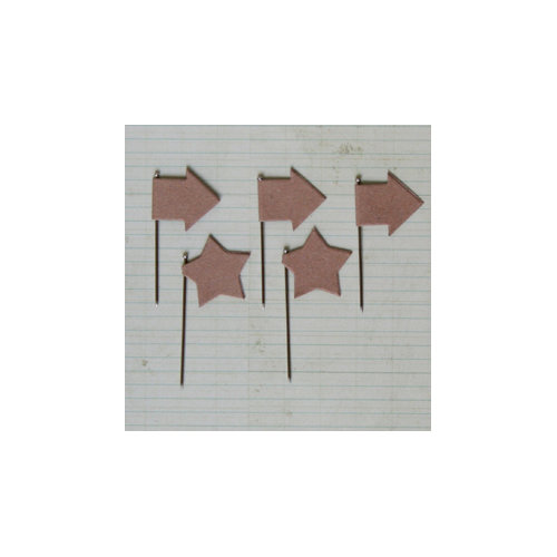 Maya Road - Vintage Trinket Pins - Star and Arrow - Kraft