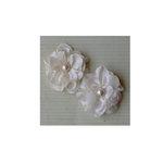 Maya Road - Satin Scallop Edge Blooms - Cream