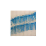 Maya Road - Trim - Tulle Pleat - Slushie Blue - 25 Yards