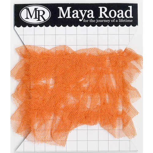 Maya Road - Trim - Tulle Pleat - Pumpkin Orange - 1 Yard