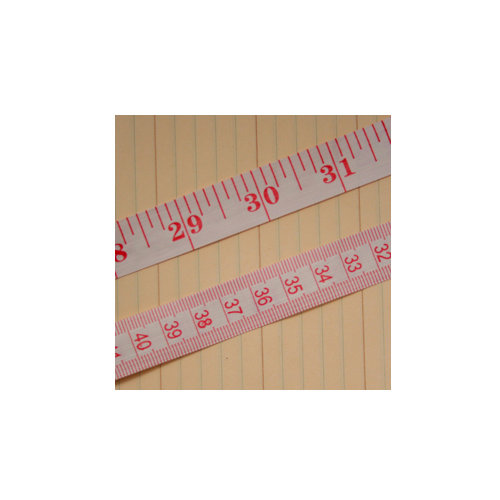 Maya Road - Trim - Vintage Tape Measure - White