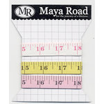 Maya Road - Vintage Tape Measure Trim Pack - White Yellow and Pink
