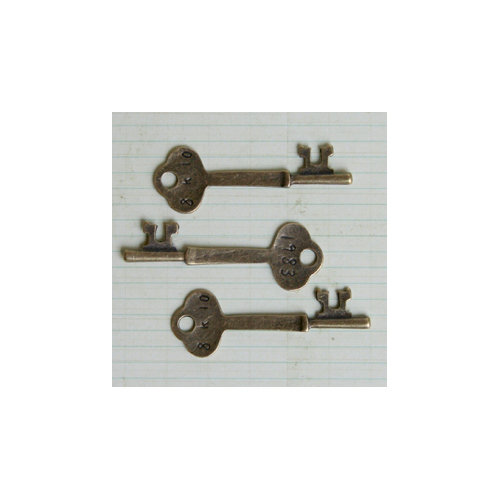 Maya Road - Metal Embellishments - Antique Room Key