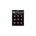 Maya Road - Mini Antique Metal Roses - Gold