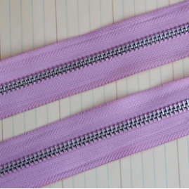 Maya Road - Trim Collection - Zipper Trim - Lilac Pink - 1 Yard
