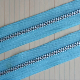 Maya Road - Trim Collection - Zipper Trim - Sky Blue - 1 Yard