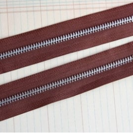 Maya Road - Trim Collection - Zipper Trim - Earth Brown - 1 Yard