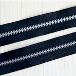 Maya Road - Trim Collection - Zipper Trim - Midnight Black - 1 Yard, CLEARANCE