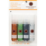 Martha Stewart Crafts - Halloween - Glitter Glue Pen Variety 4 Piece Set