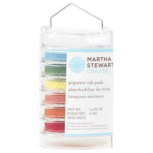 Martha Stewart Crafts - Ink Pads - 6 Pieces - Brights