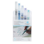 Martha Stewart Crafts - Glitter Marker Set - 6 Pieces - Cool Spectrum