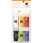 Martha Stewart Crafts - Halloween - Iridescent Glitter Embellishment Variety - 6 Piece Set with Glue