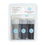 Martha Stewart Crafts - Fine Glitter Embellishment Variety - 3 Piece Set with Glue - Mountain