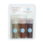 Martha Stewart Crafts - Fine Glitter Embellishment Variety - 3 Piece Set with Glue - Woodland