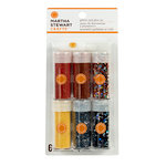 Martha Stewart Crafts - Animal Masquerade Collection - Halloween - Glitter - 6 Piece Set with Glue